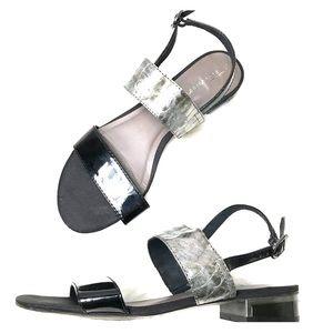 Tamaris Black Grey Ankle Strap Sandals Size 39